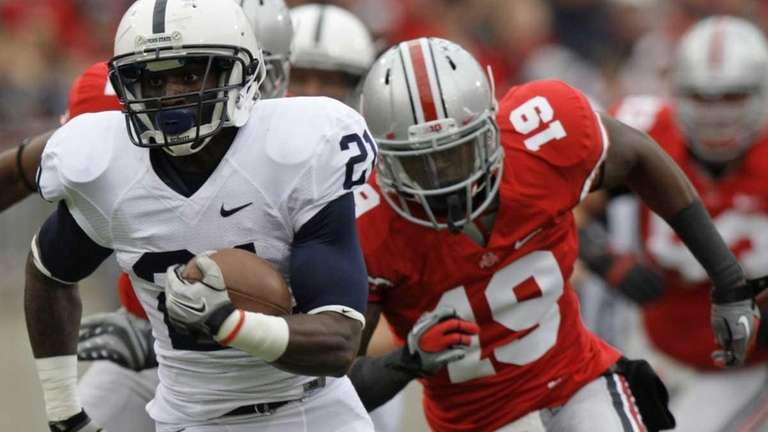 Penn State running back Stephfon Green (21) runs