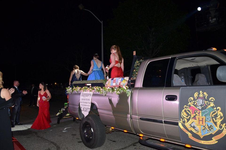 Students attend Ward Melville High School's senior prom