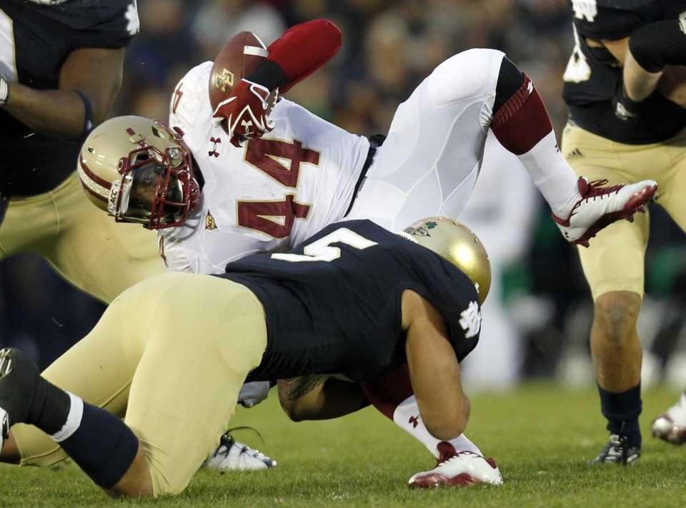 Boston College running back Andre Williams (44) is