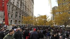 Zuccotti Park in lower Manhattan. (Nov. 19, 2011)