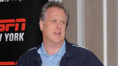 ESPN Radio's Michael Kay with fans during an