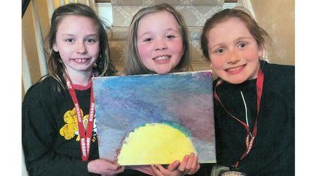 Kidsday reporters Mary-Pat Kolenik, left, Kelsey O'Keefe and