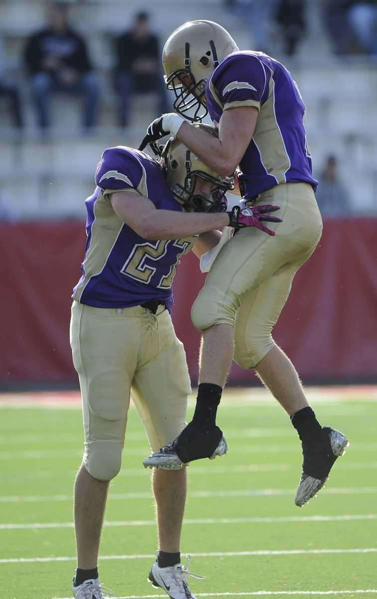 Sayville's James Rupp, right, and John Haggart, left,