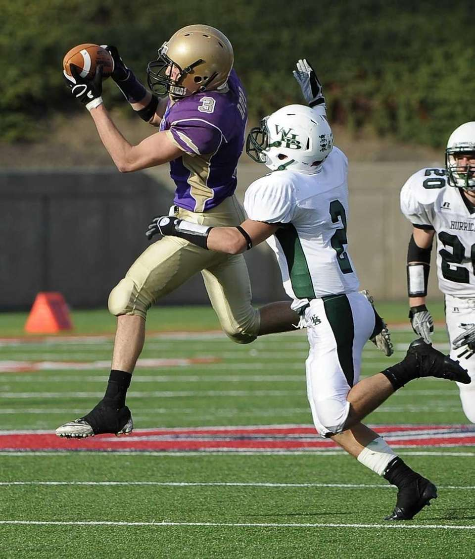 Sayville's James Rupp makes the catch against Westhampton