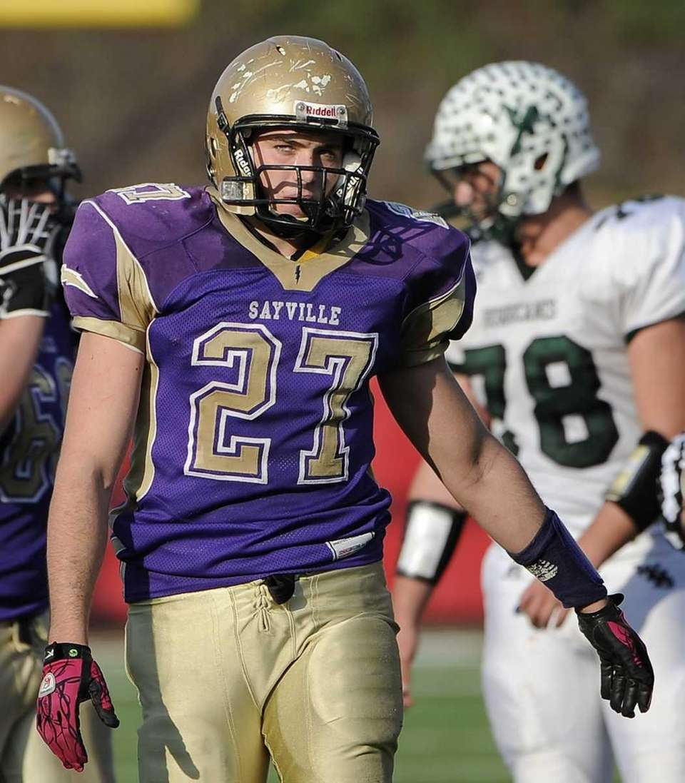 Sayville's John Haggart is seen during the game