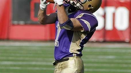 Sayville's Tom Dieckhoff makes the catch against Westhampton
