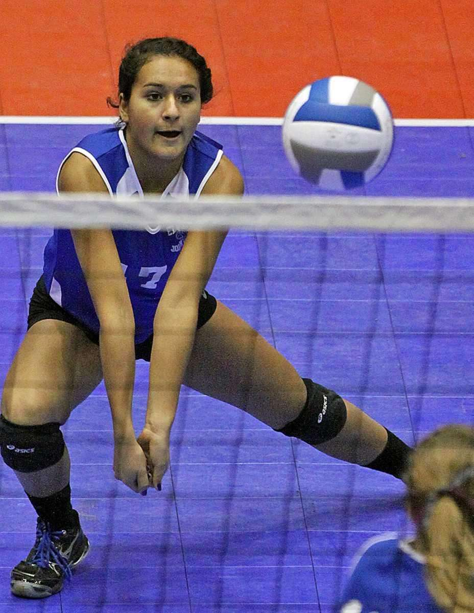 Glenn's Kasey Muchnicki gets the dig during the