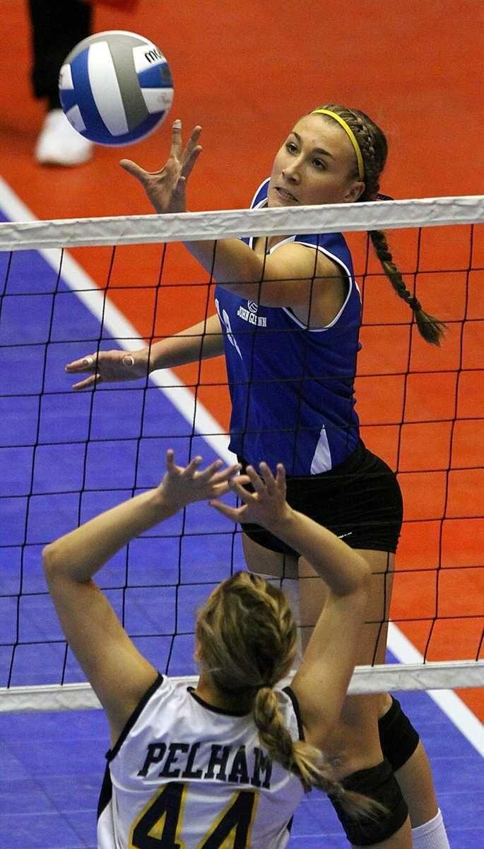 Glenn's Melissa Rigo tips the ball over the