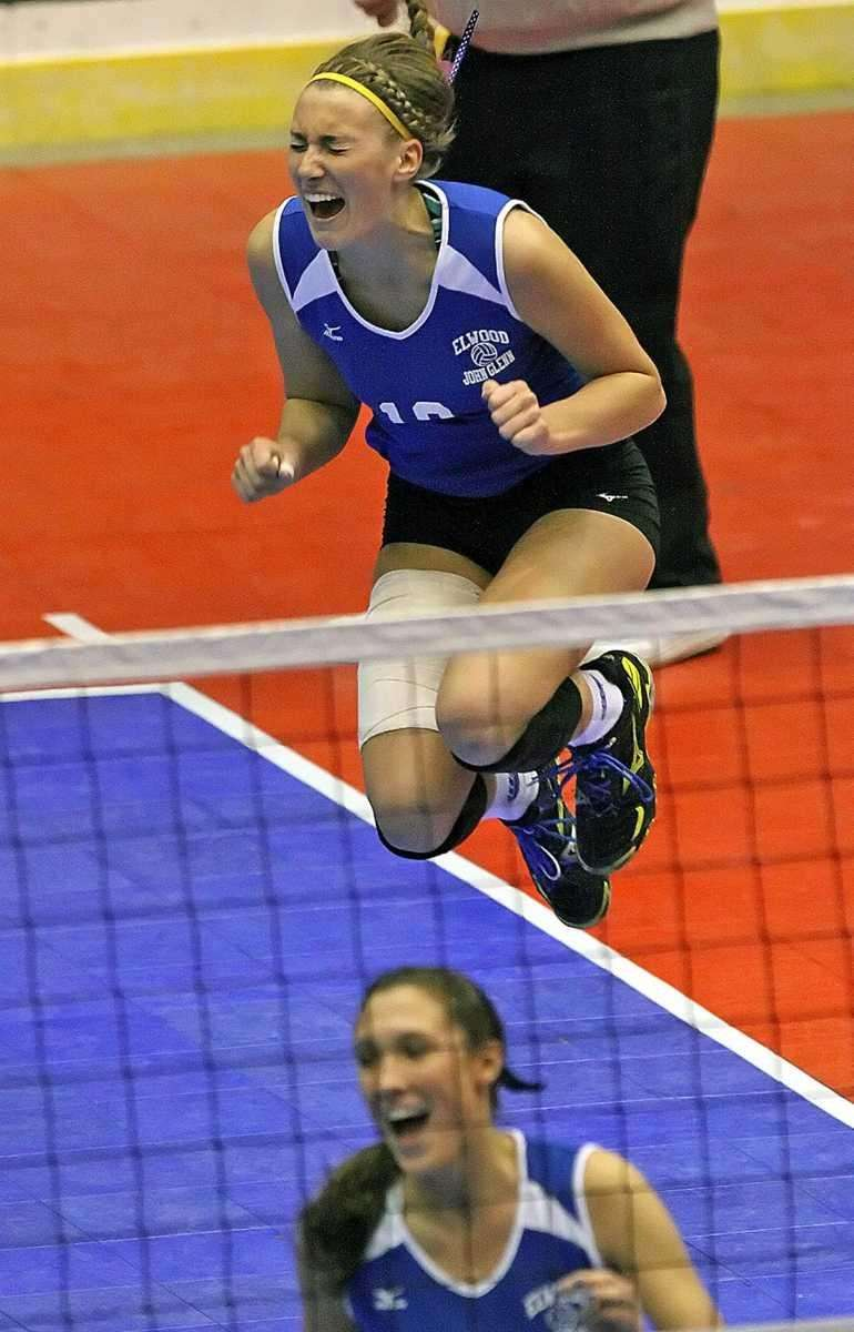 Glenn's Melissa Rigo jumps with excitement after a