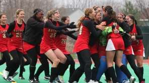 Sachem East High School celebrates their championship win
