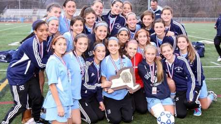 South Side's team poses with the championship plaque