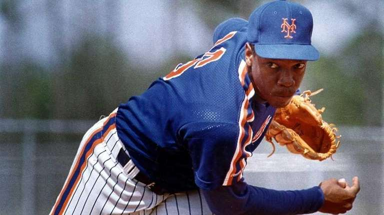 Dwight Gooden during spring training.