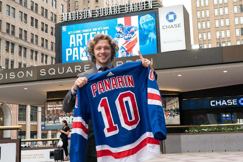 Newly signed New York Ranger forward Artemi Panarin