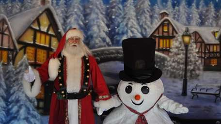 Meet Santa and Fluffy the Snowman at White