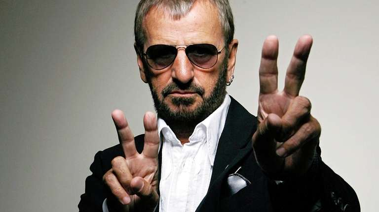 Ringo Starr poses for a photo in Beverly