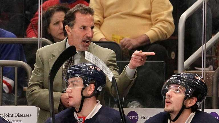Head coach John Tortorella of the New York