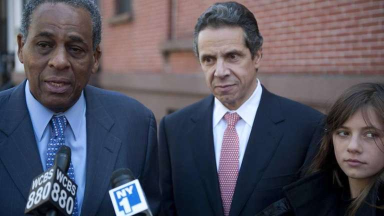 H. Carl McCall, left, with Andrew M. Cuomo