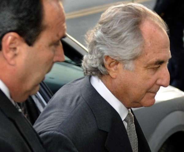 Disgraced Wall Street financier Bernard Madoff's multibillion-dollar Ponzi