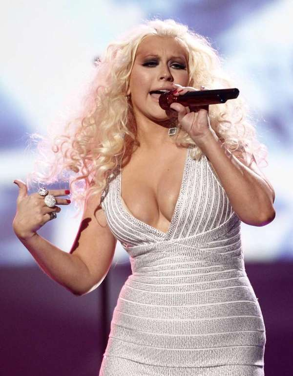Christina Aguilera performs at the 39th Annual American