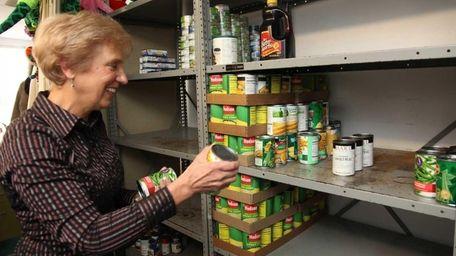Deborah Wallace volunteers at a food pantry and