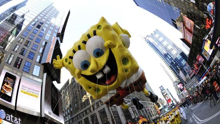 SpongeBob SquarePants during the 85th Macy's Thanksgiving Day