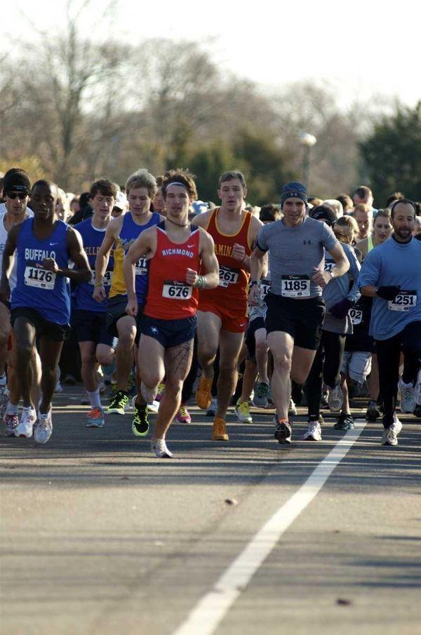 Andrew Valenski, 18, of Massapequa Park, ran the
