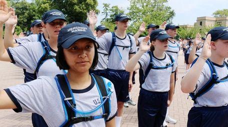 Plebe candidates for the U.S. Merchant Marine class