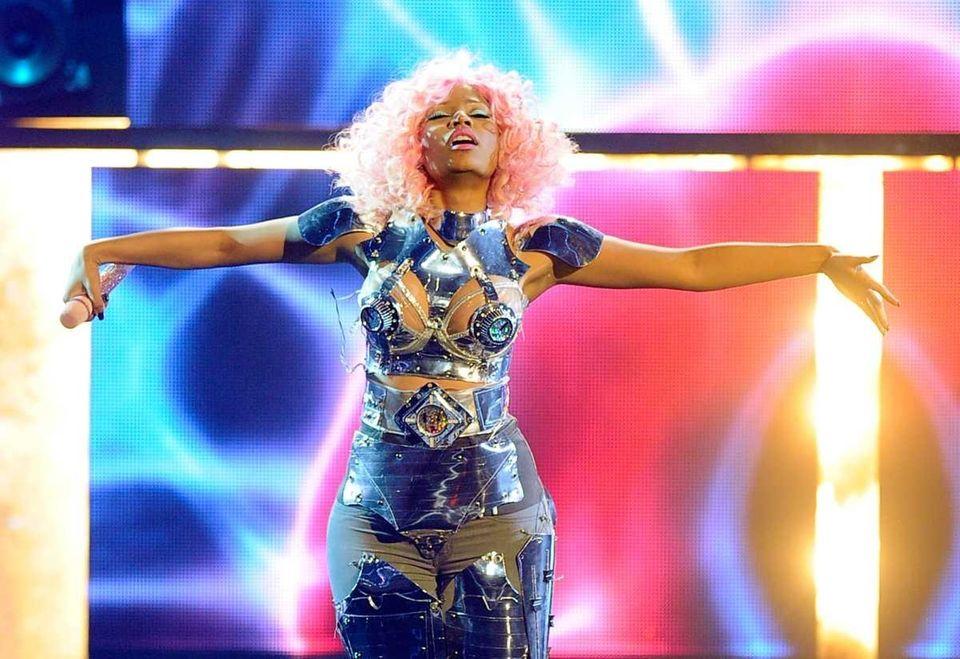 Singer Nicki Minaj performs onstage at the 2011