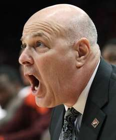Virginia Tech coach Seth Greenberg reacts in the