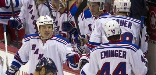 New York Rangers left wing Ruslan Fedotenko (26)