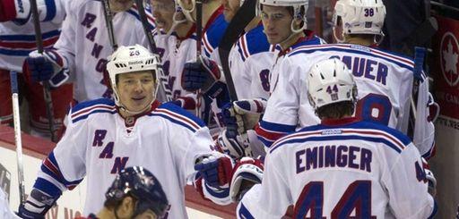 New York Rangers left wing Ruslan Fedotenko (26)