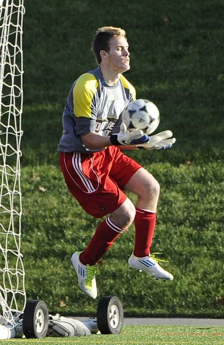Suffolk Red-1 goalkeeper Jason Orban of Eastport/South Manor