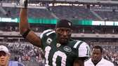 Santonio Holmes #10 of the New York Jets