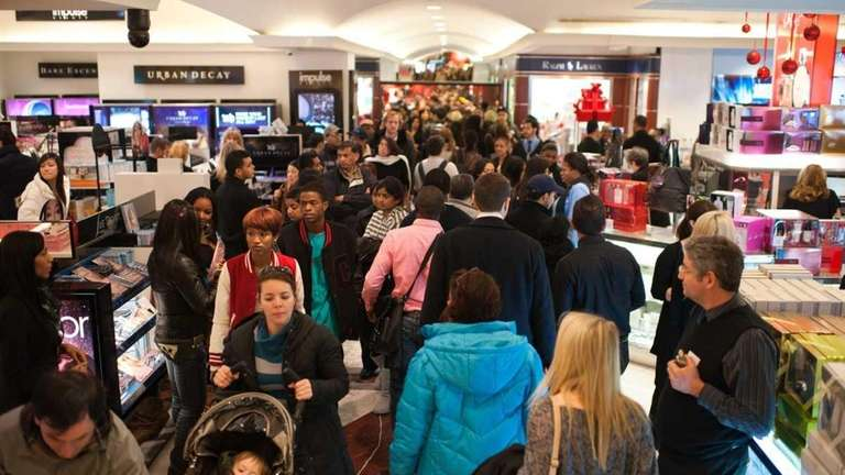Macy's in Herald Square was filled with hundreds