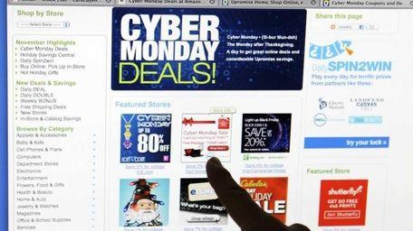 Consumer Carol Uyeno looks at Cyber Monday sales
