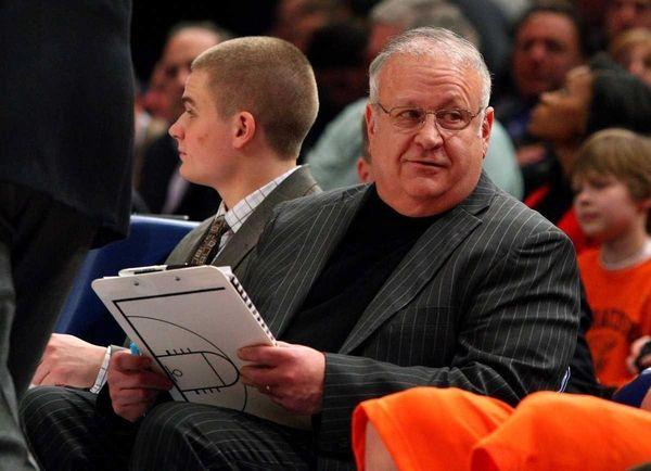 Assistant coach Bernie Fine of the Syracuse Orange