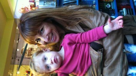 Jill Zarin and granddaughter Lila at Funky Monkey