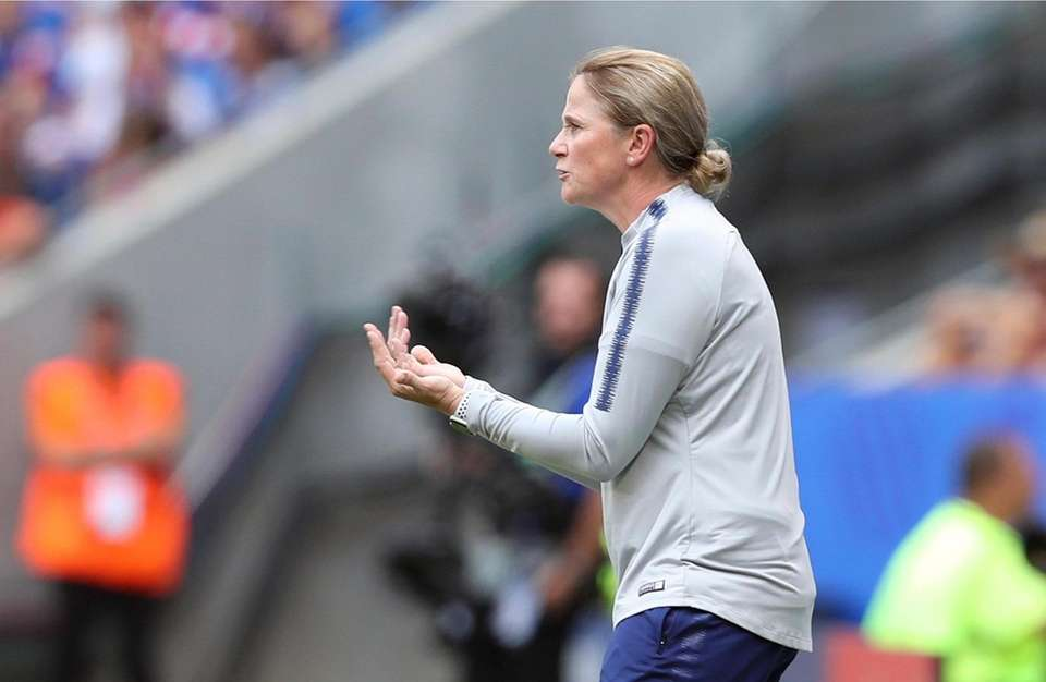 United States coach Jill Ellis gestures during the