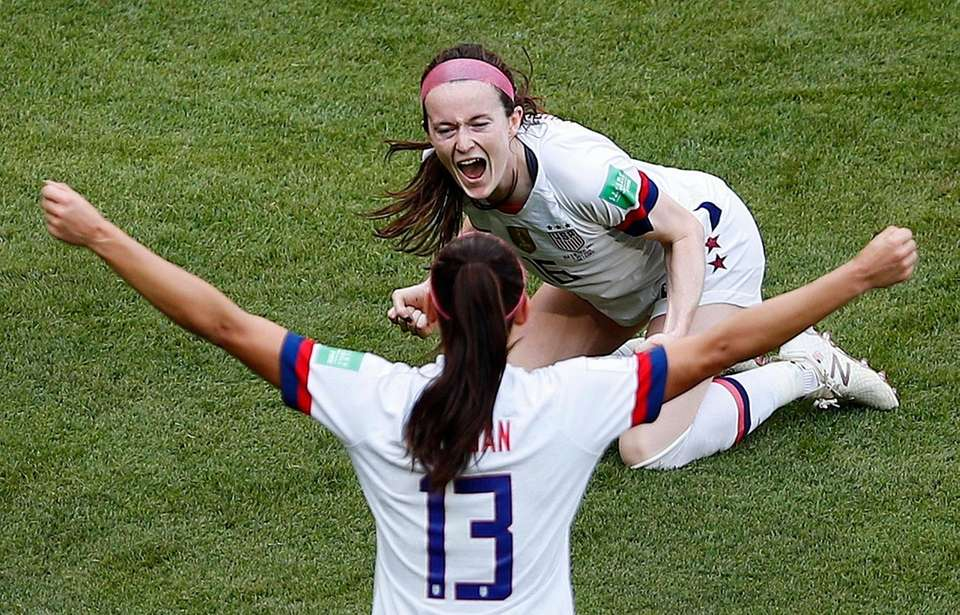 United States' Rose Lavelle and United States' Alex