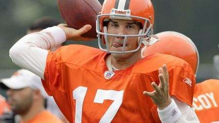 Jake Delhomme drops back in training camp with