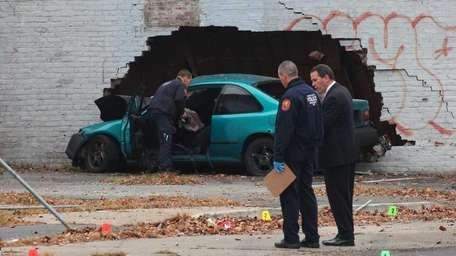 The aftermath of a fatal accident Tuesday at