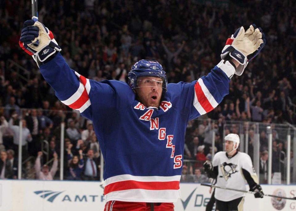 Brad Richards #19 of the New York Rangers