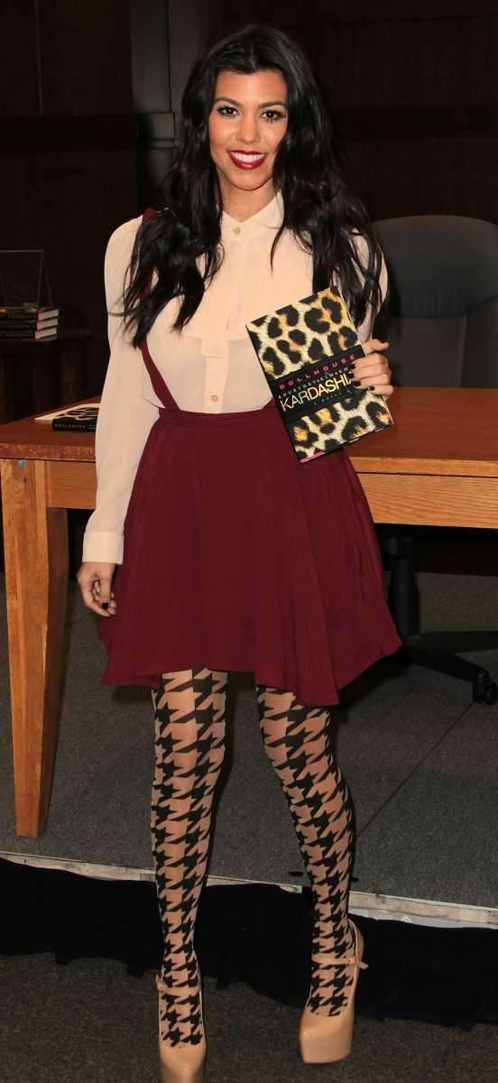 Kourtney Kardashian attends the book signing for