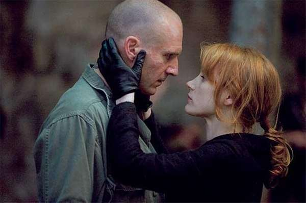 "Ralph Fiennes and Jessica Chastain in ""Coriolanus."" (Larry"