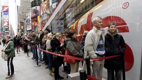 This line is for discounted Broadway tickets at