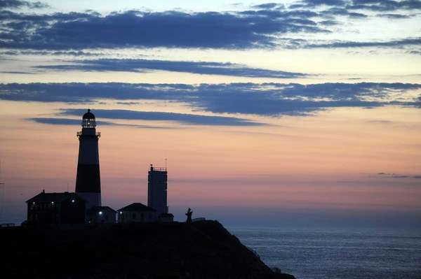 The lighthouse just before sunrise at Montauk Point.