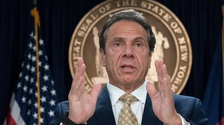Gov. Andrew M. Cuomo at a news conference