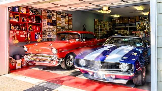 Bill DeBlasio's garage in Huntington Station.