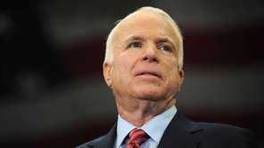 Sen. John McCain speaks at campaign rally at
