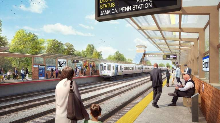Rendering of the platform view of the new